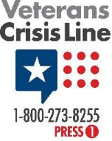 Veterans Crisis Line, 1-800-273-8255, Press 1